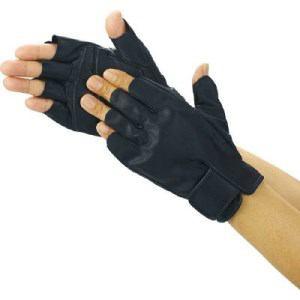 TRUSCO 防振防滑手袋 ハーフフィンガー LLサイズ