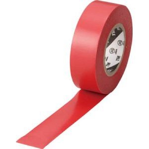 TRUSCO 脱鉛タイプ ビニールテープ 19X10m レッド 1巻