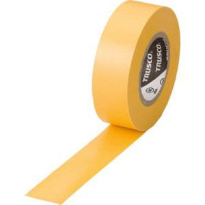 TRUSCO 脱鉛タイプ ビニールテープ 19X10m イエロー 1巻