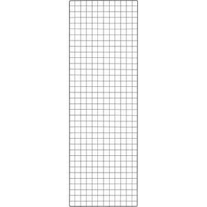 TRUSCO 棚用ディスプレイネット 金具付 600X1800 黒