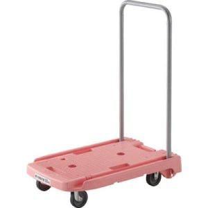 TRUSCO 小型樹脂製台車こまわり君 省音タイプ 600X390 ピンク