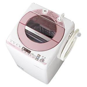 SHARP 全自動洗濯機 (洗濯8.0kg) ピンク系 ES-GV80P-P