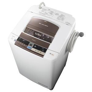 HITACHI 全自動洗濯機 「ビートウォッシュ」(洗濯10.0kg) ダークブラウン BW-10TV-T