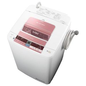 HITACHI 全自動洗濯機 「ビートウォッシュ」(洗濯7.0kg) ピンク BW-7TV-P