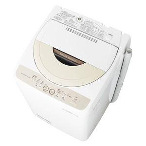 SHARP 全自動洗濯機 (洗濯4.5kg) ベージュ系 ES-GE45P-C
