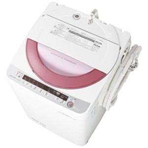 SHARP 全自動洗濯機 (洗濯6.0kg) ピンク系 ES-GE60P-P