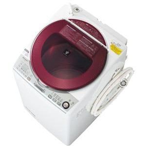 SHARP 洗濯乾燥機 (洗濯8.0kg/乾燥4.5kg) レッド系 ES-TX840-R