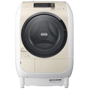 日立 ドラム式洗濯乾燥機 「ヒートリサイクル 風アイロン ビッグドラム」(洗濯9.0kg/乾燥6.0kg・左開き) ライトベージュ BD-V3700L-C