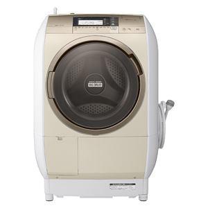 日立 ドラム式洗濯乾燥機 「ヒートリサイクル 風アイロン ビッグドラム」(洗濯10.0kg/乾燥6.0kg・右開き) シャンパン BD-V9700R-N