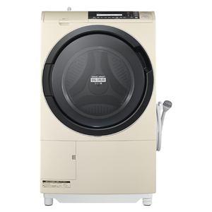日立 ドラム式洗濯乾燥機 「ヒートリサイクル 風アイロン ビッグドラム」(洗濯10.0kg/乾燥6.0kg・左開き) ライトベージュ BD-S8700L-C
