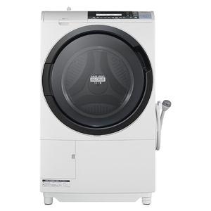 日立 ドラム式洗濯乾燥機 「ヒートリサイクル 風アイロン ビッグドラム」(洗濯10.0kg/乾燥6.0kg・左開き) ピュアホワイト BD-S8700L-W