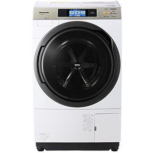 パナソニック ドラム式洗濯乾燥機 (洗濯10.0kg/乾燥6.0kg・左開き) クリスタルホワイト NA-VX9500L-W