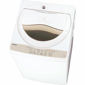 東芝 全自動洗濯機 5kg ホワイト系 AW-5G3(W)