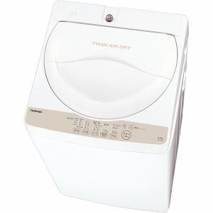 東芝 全自動洗濯機 4.2kg ホワイト系 AW-4S3(W)