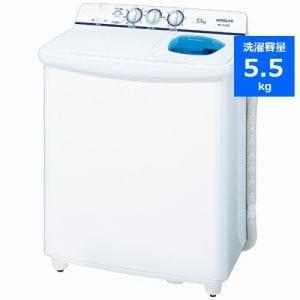 日立 2槽式洗濯機 「青空」(洗濯5.5kg)ホワイト PS-55AS2-W