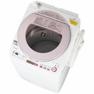 シャープ ES-TX8A-P 洗濯乾燥機 (洗濯8.0kg/乾燥4.5kg) ピンク系