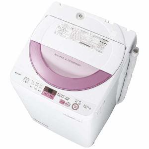 シャープ ES-GE6A-P 全自動洗濯機 (洗濯6.0kg) ピンク系