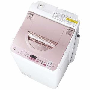 シャープ ES-TX5A-P タテ型洗濯乾燥機 (洗濯5.5kg/乾燥3.5kg) ピンク系