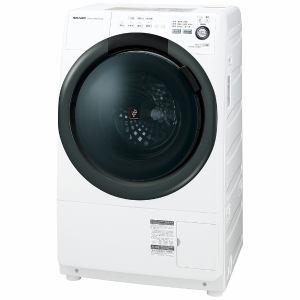 シャープ ES-S7B-WL ドラム式洗濯乾燥機(洗濯7kg/乾燥3.5kg・左開き)ホワイト系