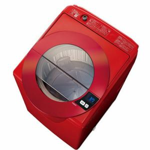 AQUA AQW-LV800F(R) 全自動洗濯機(洗濯・脱水容量8.0kg/乾燥容量3.0kg) シャイニーレッド