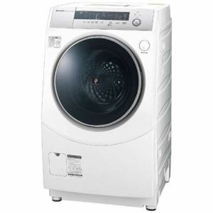 シャープ ES-H10B-WL ドラム式洗濯乾燥機 (洗濯10.0kg/乾燥6.0kg・左開き) ホワイト系