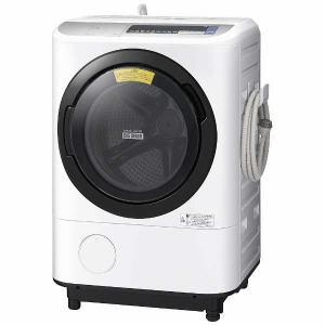 日立 BDNV110BL-S ドラム式洗濯乾燥機 (洗濯11.0kg/乾燥6.0kg・左開き) 「ヒートリサイクル 風アイロン ビッグドラム」 シルバー