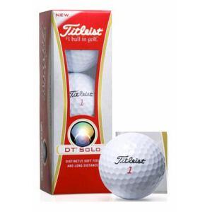 タイトリスト DT SOLO 【ゴルフボール】 12年モデル 1スリーブ(3球) ホワイト