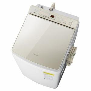 洗濯機 パナソニック 乾燥機付き 10KG NA-FW100K8-N 縦型洗濯乾燥機 (洗濯10kg・乾燥5kg) 泡洗浄 シャンパン