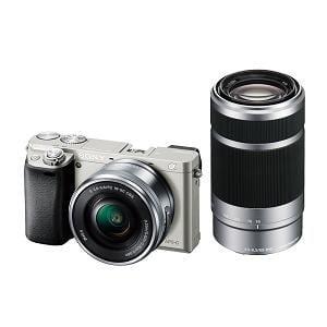 SONY デジタル一眼カメラ α6000 ダブルズームレンズキット (シルバー) ILCE-6000Y(S)
