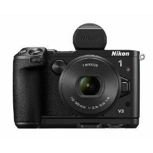 Nikon レンズ交換式アドバンストカメラ Nikon 1 V3 プレミアムキット NIKON1 V3PRKIT(BK)