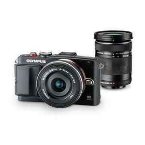 Olympus ミラーレス一眼カメラ OLYMPUS PEN Lite E-PL6 EZ ダブルズームキットBLK