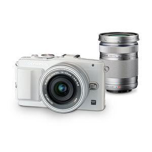Olympus ミラーレス一眼カメラ OLYMPUS PEN Lite E-PL6 EZ ダブルズームキットWHT