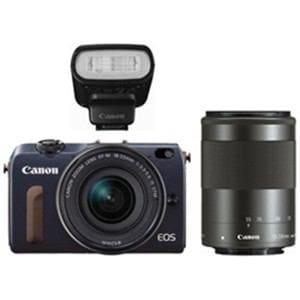 【処分品】 キヤノン EOS M2 デジタル一眼カメラ ダブルズームキット (ベイブルー)