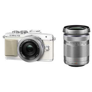 オリンパス デジタル一眼カメラ EZダブルズームキット (ホワイト) PEN Lite E-PL7(ホワイト)