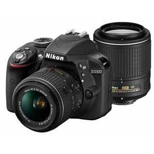 ニコン デジタル一眼カメラ ダブルズームキット2 18-55VR II/55-200VR II ブラック D3300