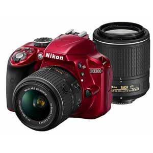 ニコン デジタル一眼カメラ ダブルズームキット2 18-55VR II/55-200VR II レッド D3300