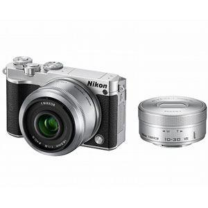 ニコン デジタル一眼カメラ ダブルレンズキット シルバー Nikon 1 J5
