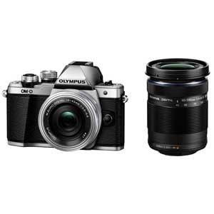 オリンパス デジタル一眼カメラ OM-D E-M10 Mark II EZダブルズームキット(シルバー) OMD EM10MK2EZWKIT SLV