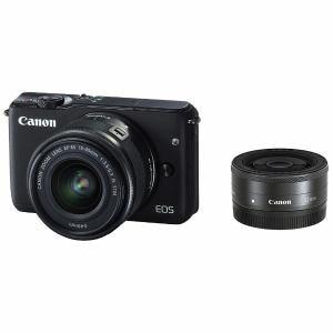 キヤノン ミラーレス一眼カメラ 「EOS M10」ダブルレンズキット(ブラック) EOSM10BK-WLK