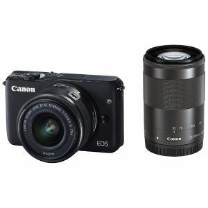 キヤノン ミラーレス一眼カメラ 「EOS M10」ダブルズームキット(ブラック) EOSM10BK-WZK