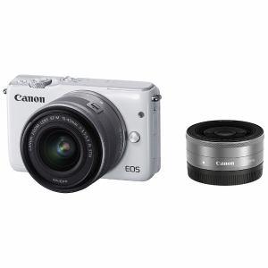 キヤノン ミラーレス一眼カメラ 「EOS M10」ダブルレンズキット(ホワイト) EOSM10WH-WLK