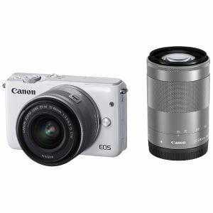 キヤノン ミラーレス一眼カメラ 「EOS M10」ダブルズームキット(ホワイト) EOSM10WH-WZK