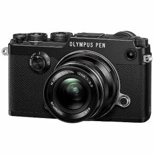 オリンパス ミラーレス一眼カメラ「PEN-F」12mmF2.0 レンズキット(ブラック)