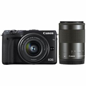 キヤノン ミラーレス一眼カメラ 「EOS M3」ダブルズームキット2(ブラック) EOSM3BK-WZOOMKIT2