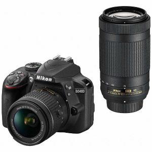 ニコン D3400-WZ-BK デジタル一眼レフカメラ「D3400」ダブルズームキット(ブラック)