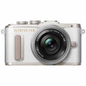 オリンパス EPL8-LKIT-WHT ミラーレスデジタル一眼カメラ「PEN E-PL8」14-42mm EZレンズキット ホワイト