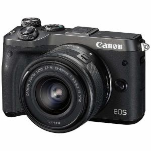 キヤノン EOSM6-L1545KBK ミラーレス一眼カメラ 「EOS M6」 EF-M15-45 IS STMレンズキット(ブラック)