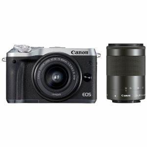 キヤノン EOSM6-WZKSL ミラーレス一眼カメラ 「EOS M6」 ダブルズームキット(シルバー)
