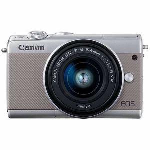 キヤノン EOSM100GY-1545ISSTMLK ミラーレス一眼カメラ 「EOS M100」 EF-M15-45 IS STMレンズキット グレー