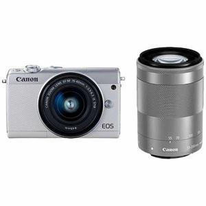 キヤノン EOSM100WH-WZK ミラーレス一眼カメラ 「EOS M100」 ダブルズームキット ホワイト